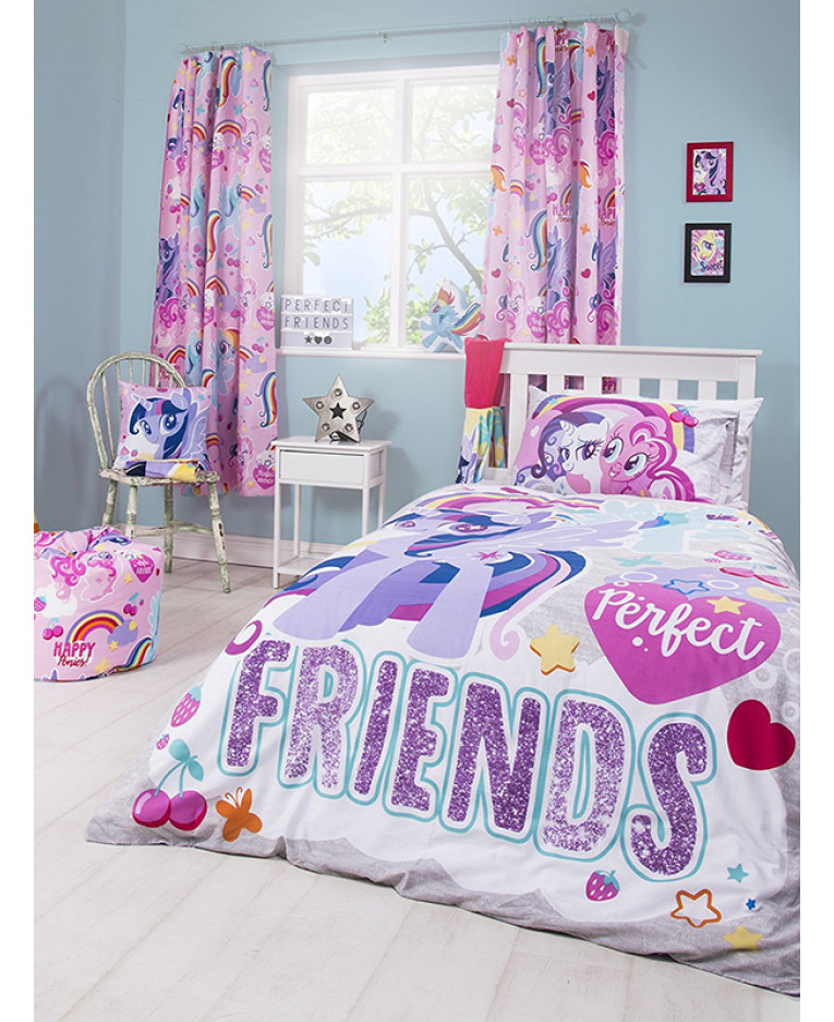 OFFICIAL MY LITTLE PONY CRUSH SINGLE DUVET QUILT COVER GIRLS PURPLE BEDROOM