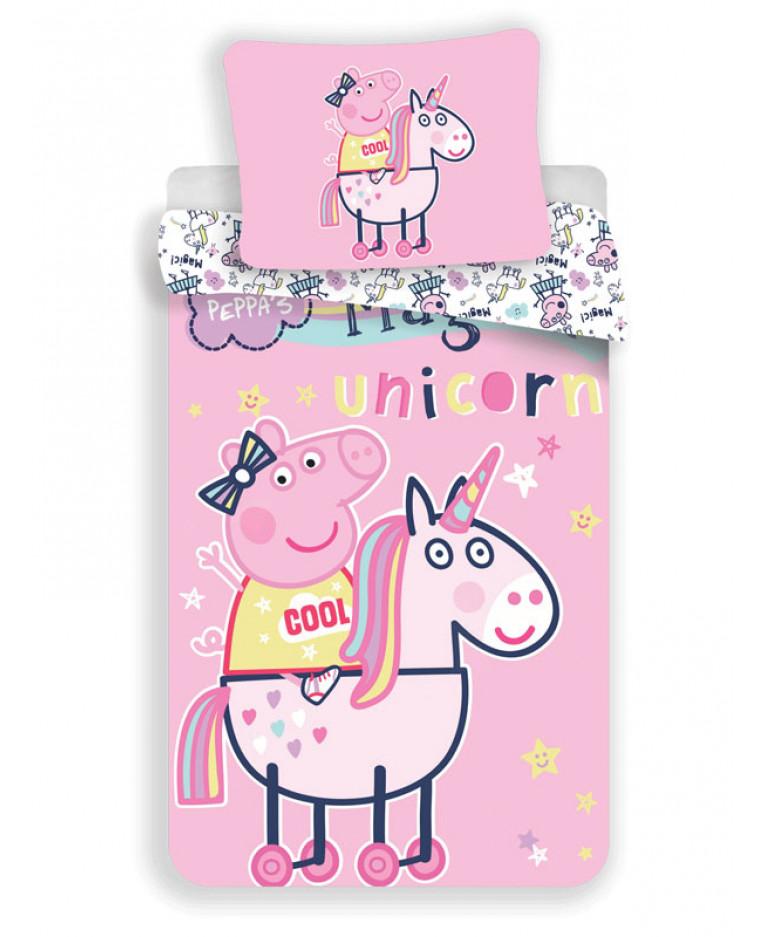 Peppa Pig Set Copripiumino Singolo Unicorno Camera Da Letto Biancheria Da Letto