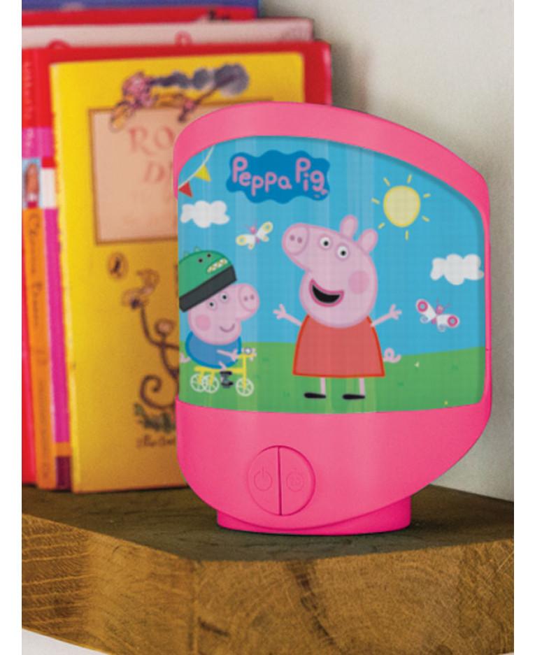 OFFICIAL PEPPA PIG LENTICULAR MULTI FUNCTION NIGHT LIGHT KIDS BEDROOM LIGHTNING