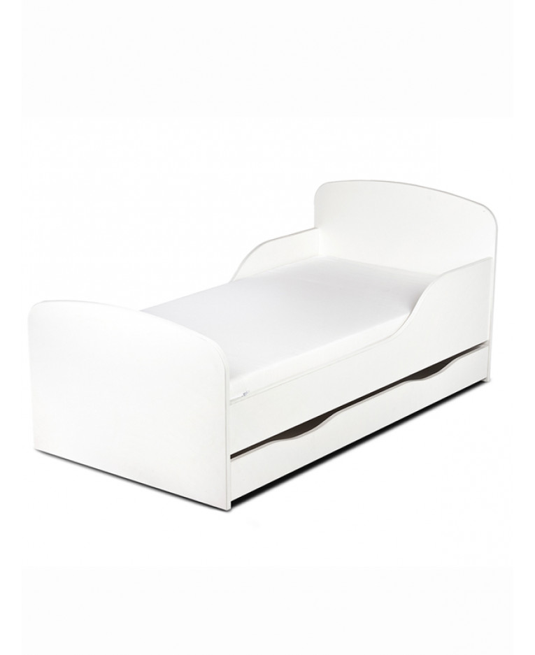 White Toddler Bed - Foam & Storage | Price Right Home