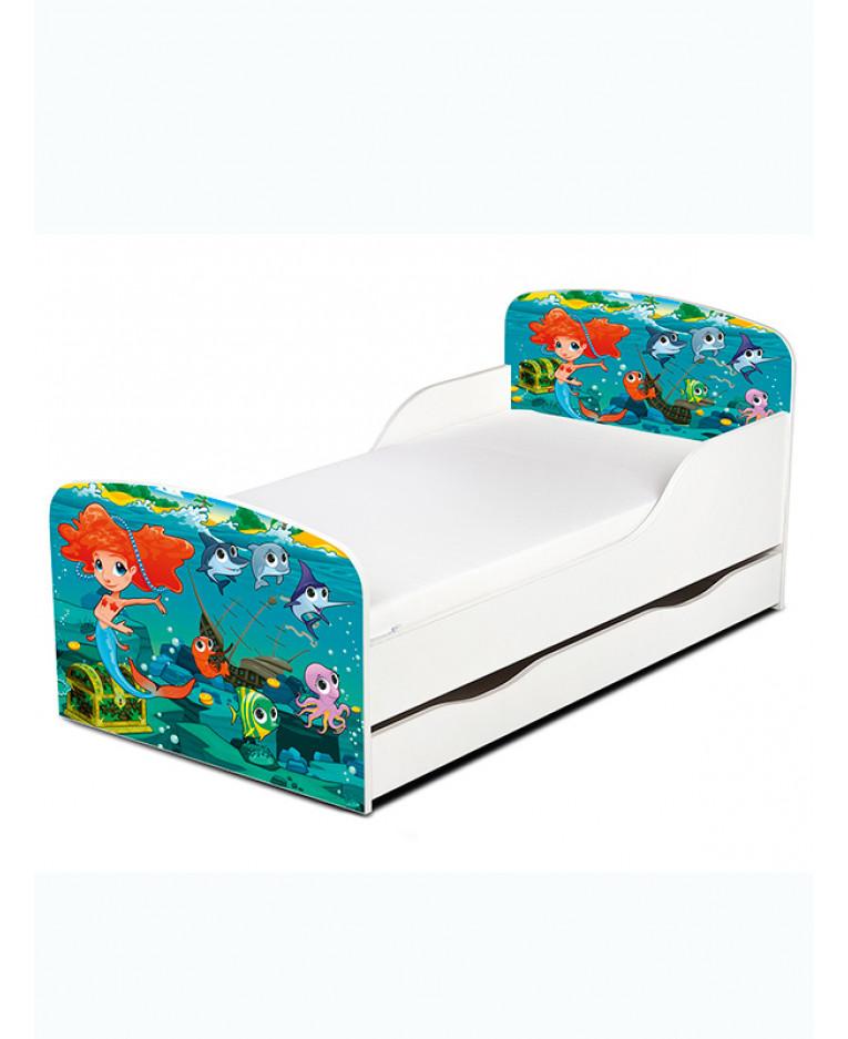 pricerighthome mermaid toddler bed with underbed storage junior bedroom. Black Bedroom Furniture Sets. Home Design Ideas