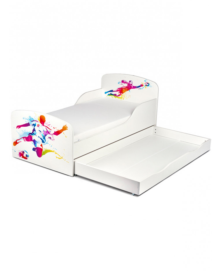 pricerighthome football player toddler bed with underbed storage bedroom. Black Bedroom Furniture Sets. Home Design Ideas
