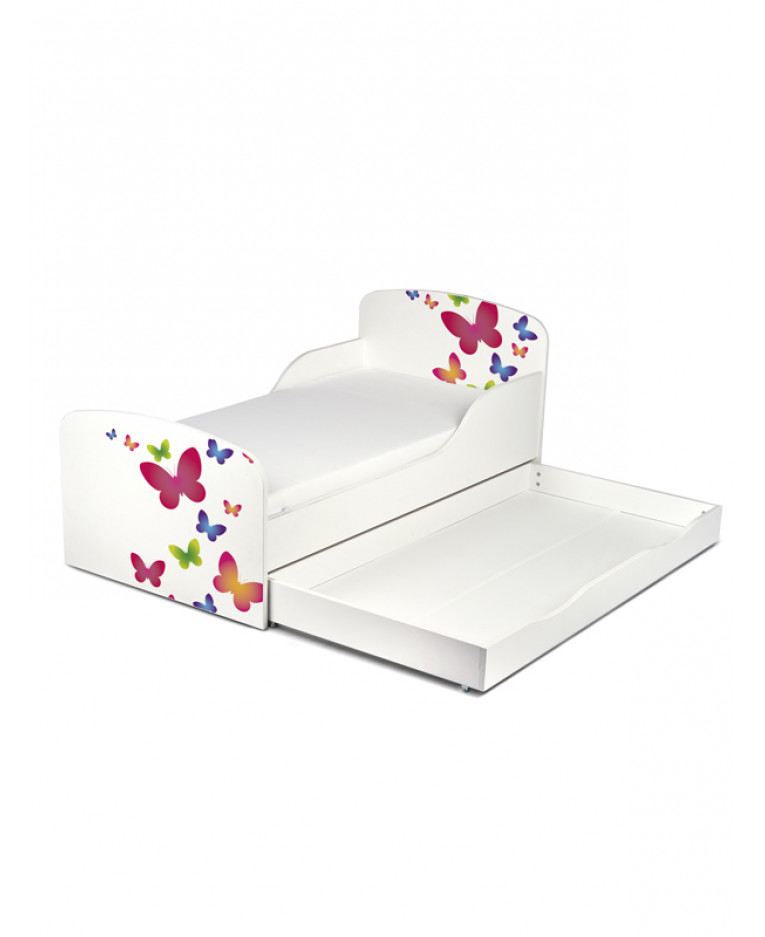 Butterfly Toddler Bed (Foam) & Storage | Price Right Home