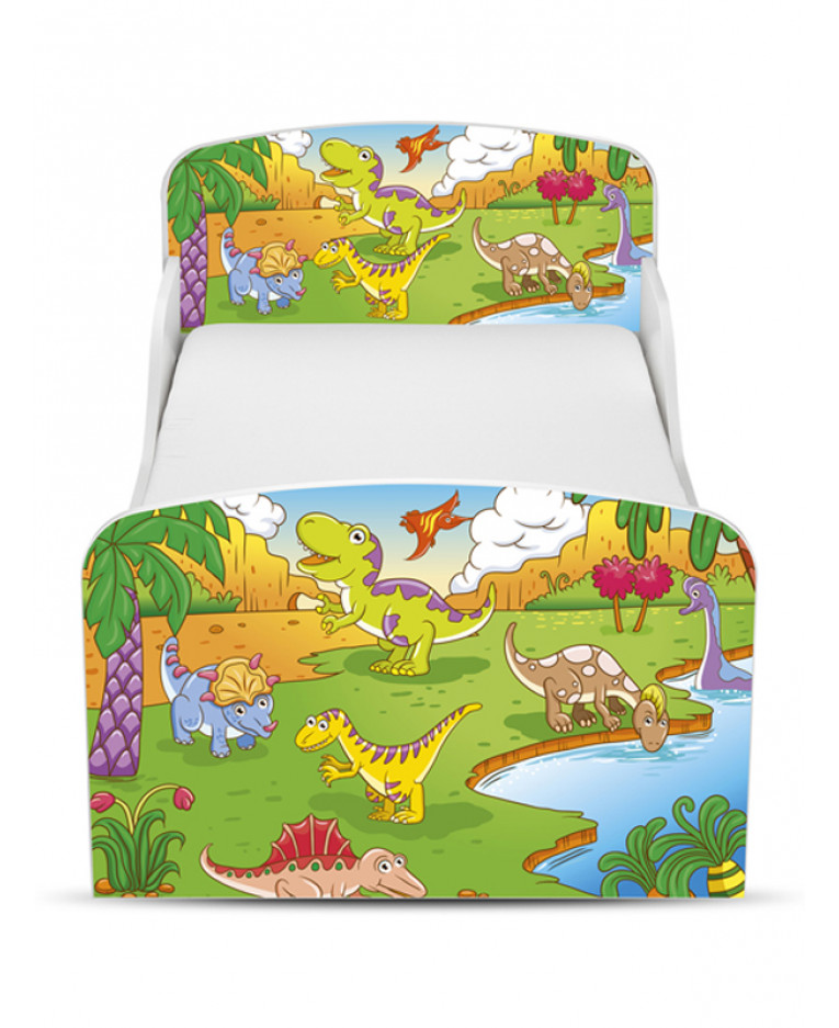 Dinosaur Toddler Bed Amp Foam Mattress Price Right Home