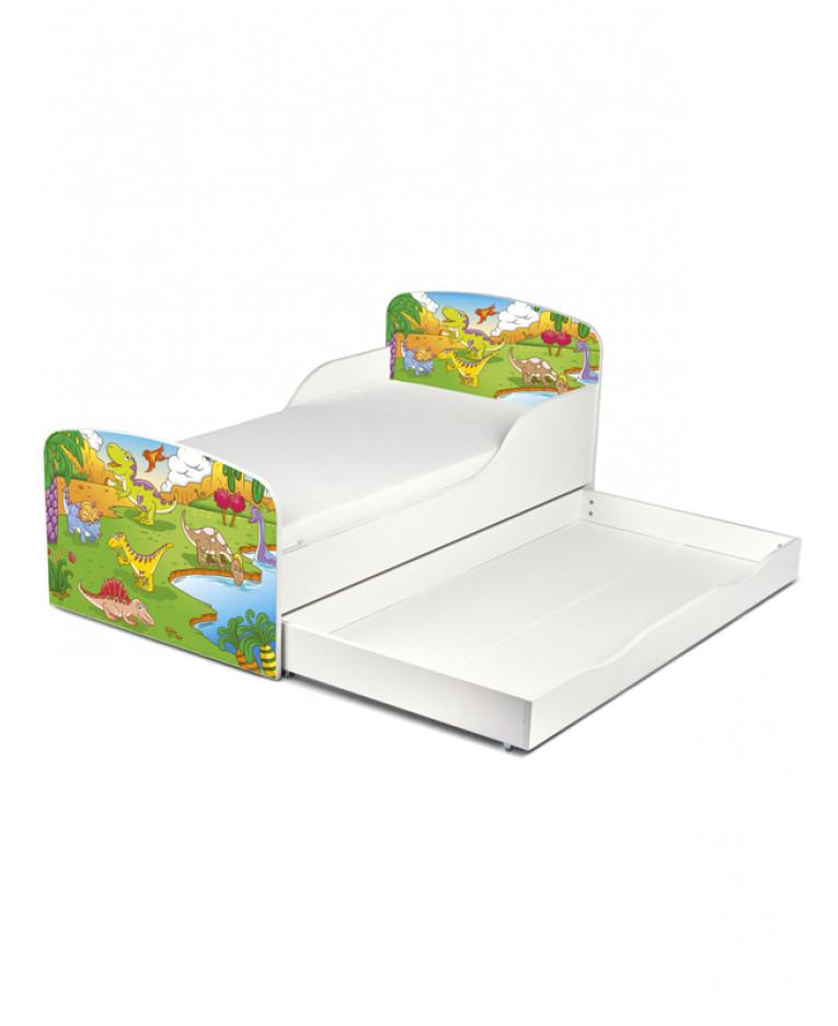 pricerighthome dinosaur toddler bed with underbed storage furniture. Black Bedroom Furniture Sets. Home Design Ideas
