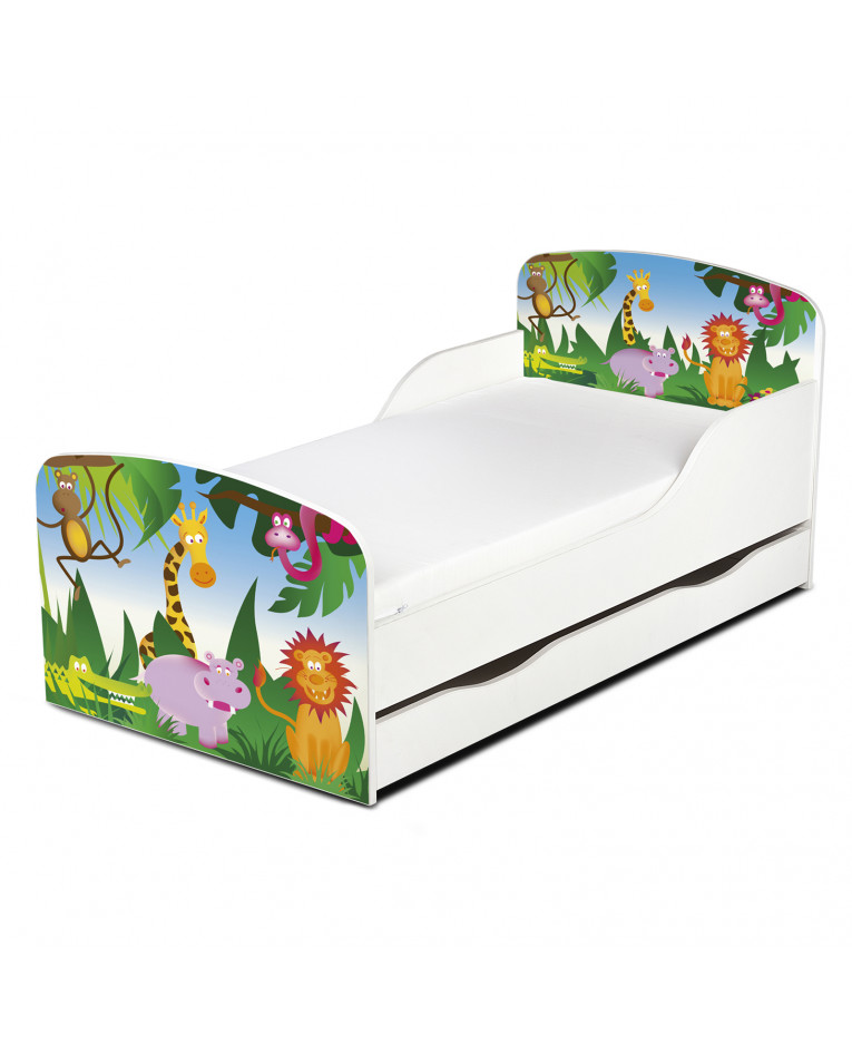 sc 1 st  PriceRightHome & PriceRightHome Jungle Exclusive Design Toddler Bed with Underbed Storage