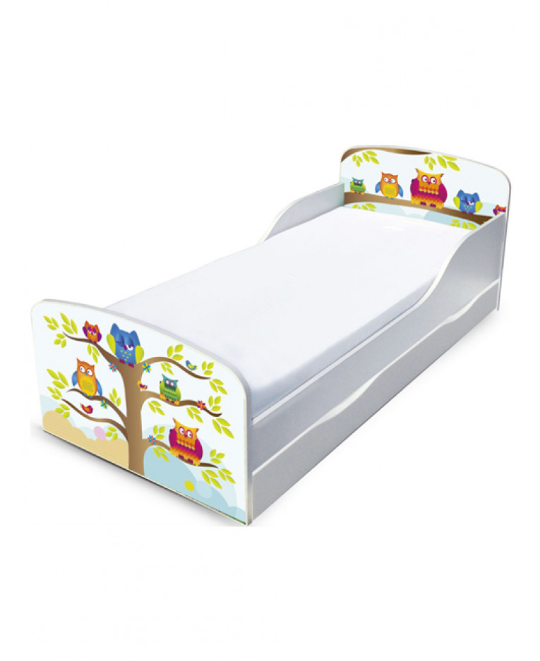 outlet store 7087e 616ef PriceRightHome Owls Toddler Bed with Underbed Storage