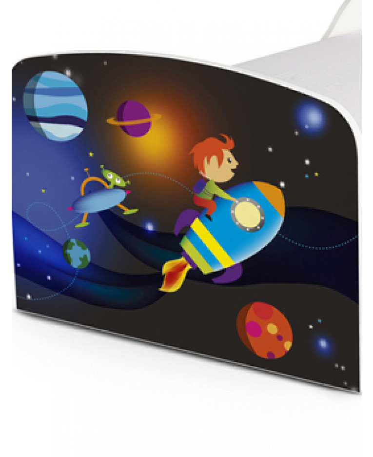 PriceRightHome Space Rocket Toddler Bed