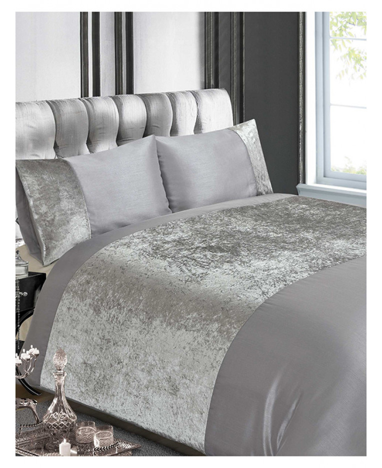 Crushed Velvet Duvet Cover Set Sweetgalas
