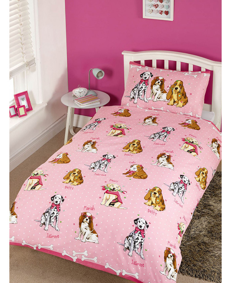 arcobaleni Unicorn-Set Trapunta Lettino-Copripiumino e federe Rosa Motivo Colore