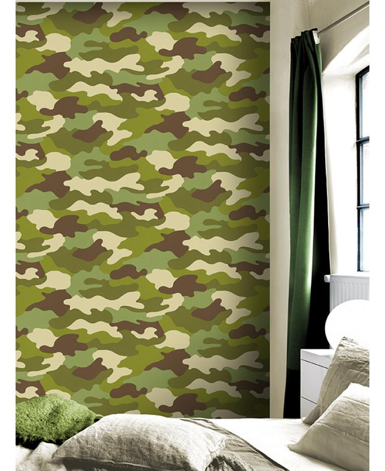 Camouflage Wallpaper 10m Rasch 260914