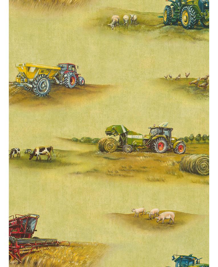 Rasch Tractor Wallpaper 293203 Feature Bedroom