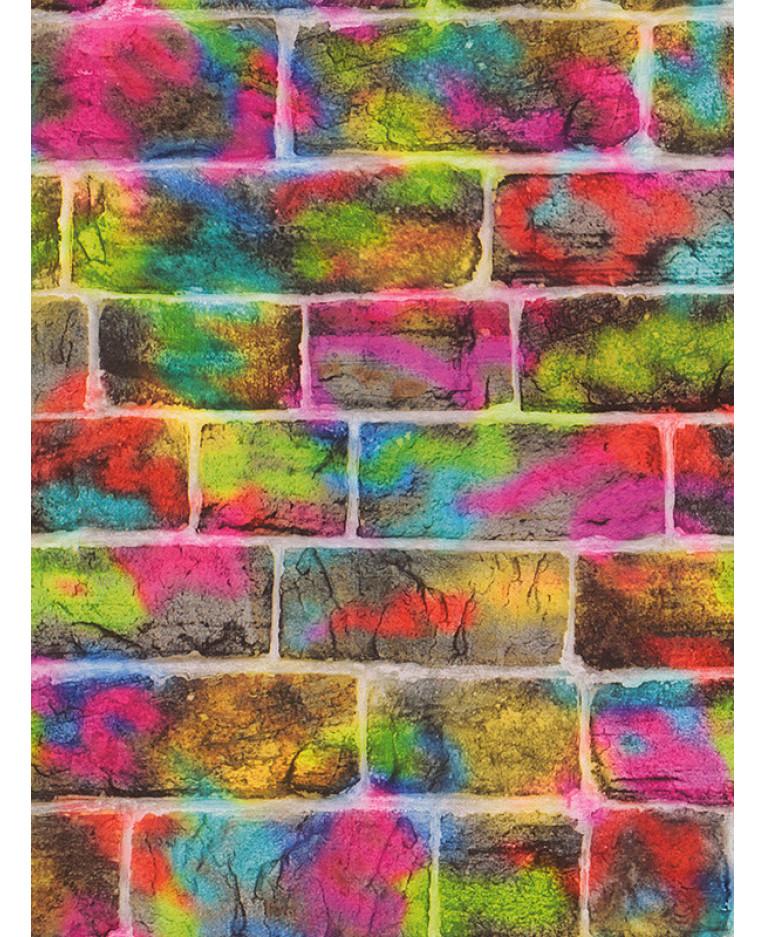 Rasch Brick Graffiti Wallpaper 291407 Feature Bedroom
