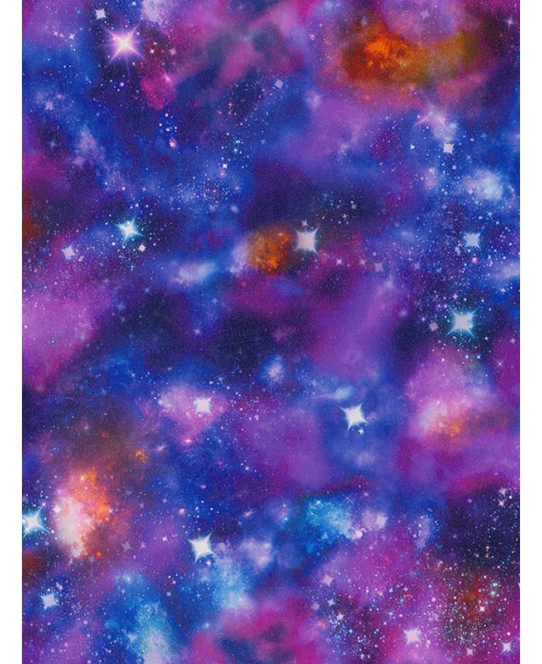 Cosmic Space Glow In The Dark Wallpaper