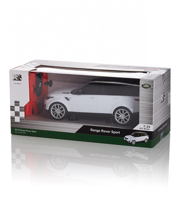 range rover sport white 1 24 scale radio control car. Black Bedroom Furniture Sets. Home Design Ideas