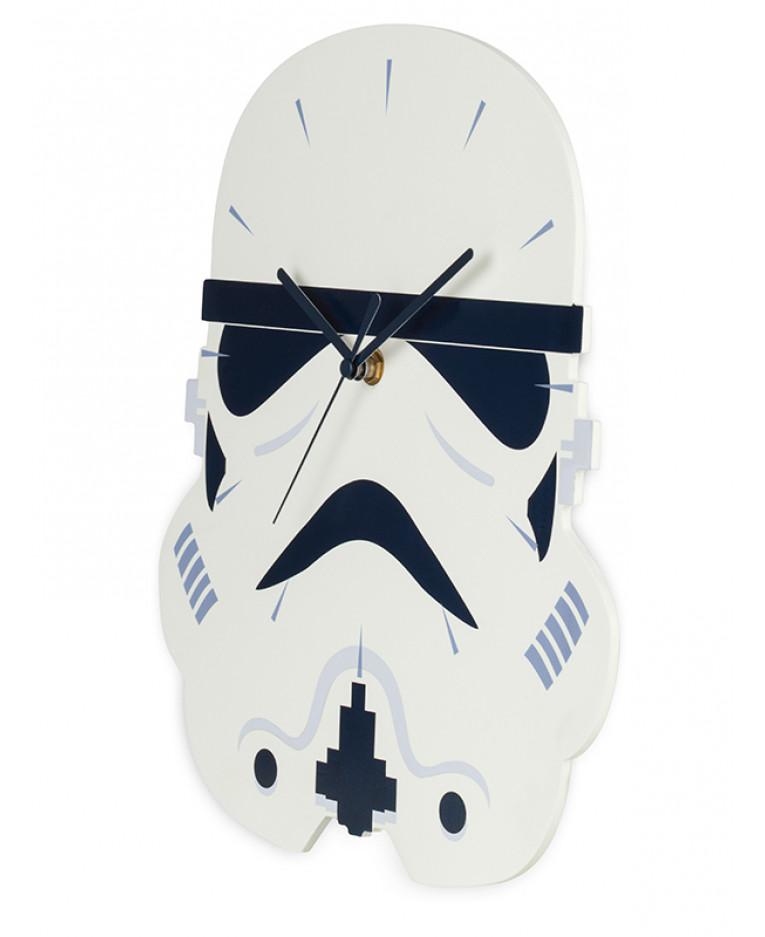 Star Wars Stormtrooper Shaped Wall Clock Bedroom