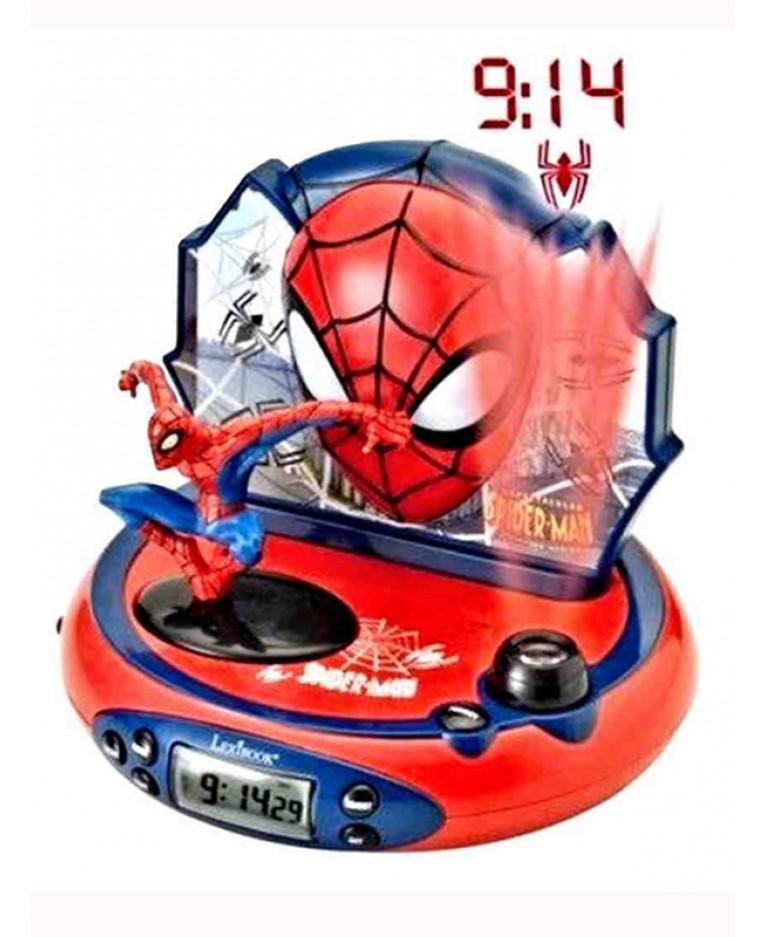Spiderman Radio Alarm Clock Projector Boys Bedroom