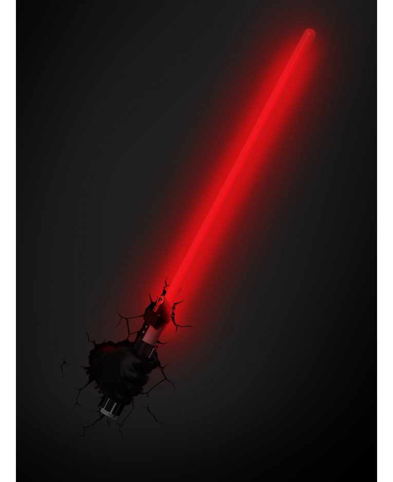 Wall Mounted Lightsaber Lamp : Star Wars Darth Vader Lightsaber 3D LED Wall Light Bedroom Lighting
