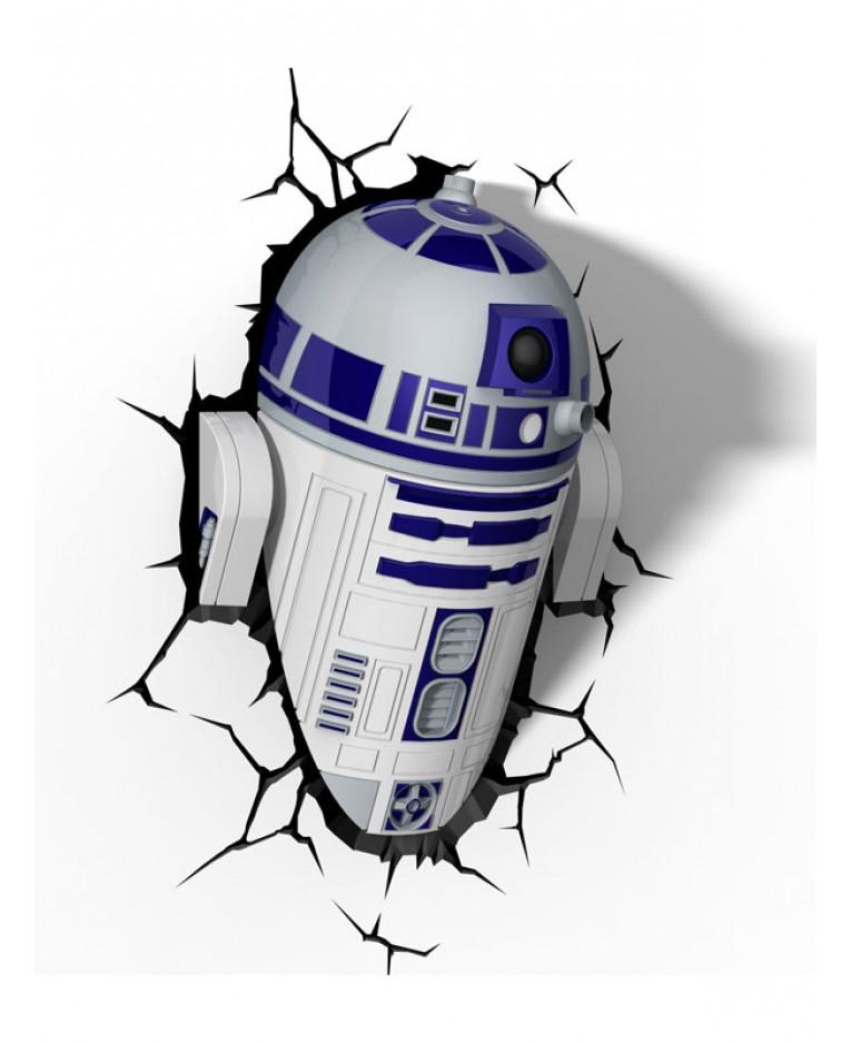 Star Wars R2 D2 3d Led Wall Light Bedroom Lighting