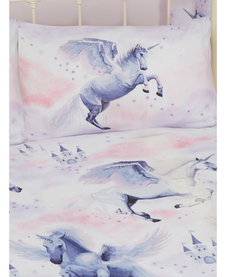 Pink Stardust Unicorn Double Duvet
