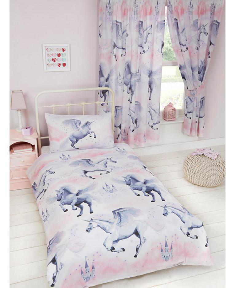 stardust unicorn single duvet cover and pillowcase set bedroom - Unicorn Bedding
