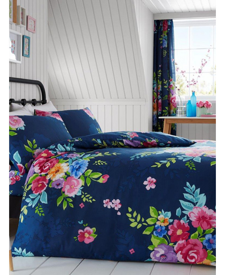 Alice Floral King Size Duvet Cover And Pillowcase Set