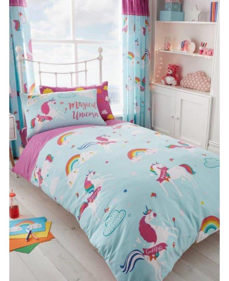 Unicorn Clouds Single Duvet Cover Bedding Bedroom