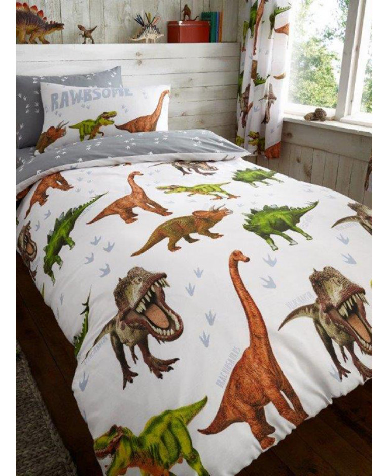 Rawrsome Dinosaur Single Duvet Cover Bedding Bedroom