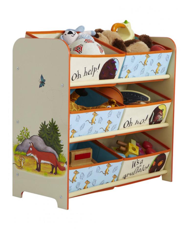 Dinosaurs Mdf Toy Box Childrens Storage Toys Games Books: The Gruffalo 6 Bin Storage Unit