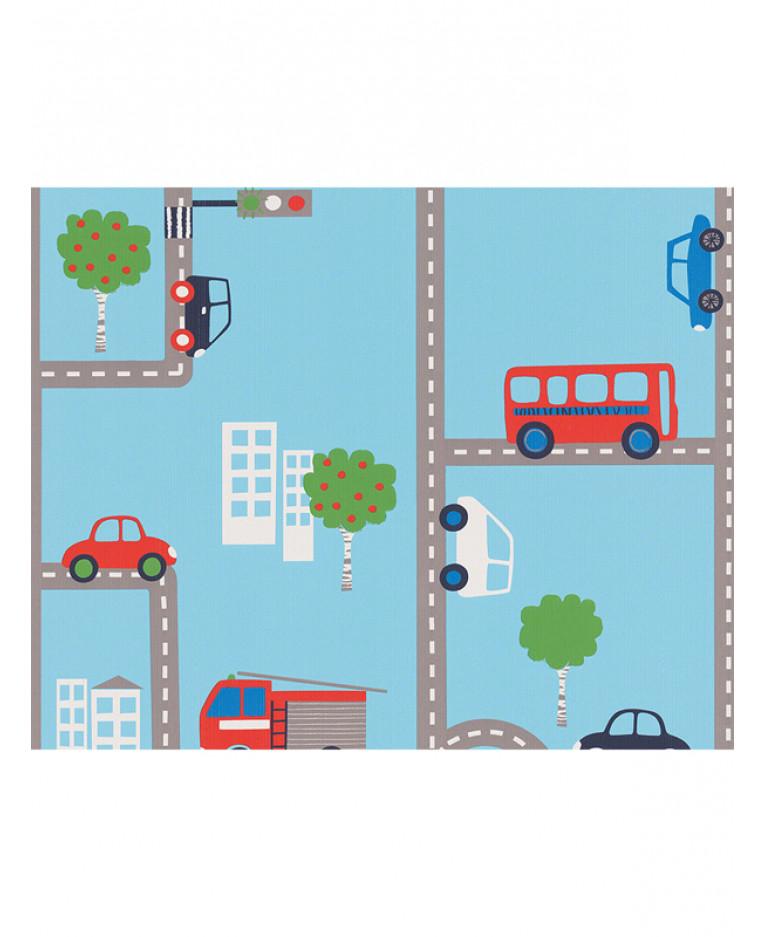 Transport Wallpaper 10m Blue