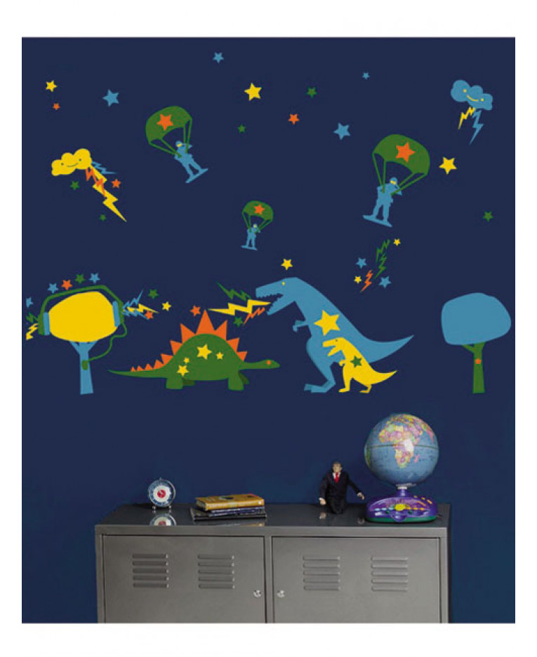 Wallies Wall Candy - Dyno Mite Wall Stickers | Decor