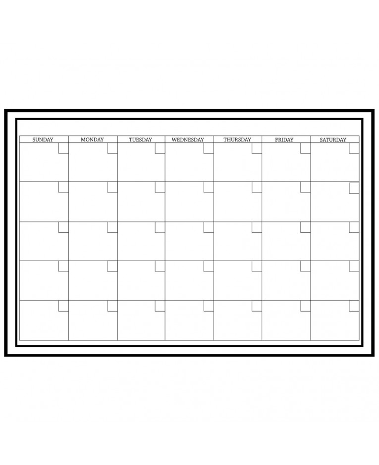 Dry Erase Weekly Calendar : Wallpops laminated monthly wall calendar with dry erase pen