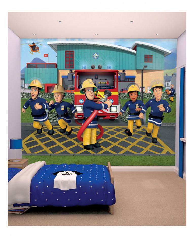 Nice Walltastic Fireman Sam Wall Mural 2.44m X 3.05m Home Design Ideas