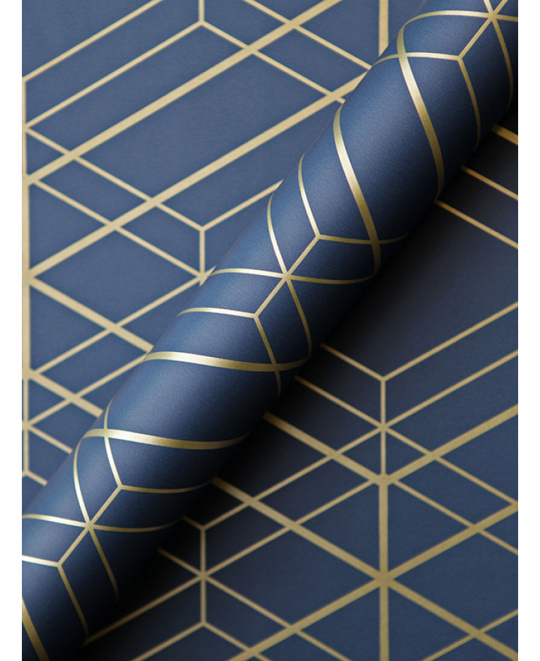 metro diamond geometric wallpaper navy blue and gold wow003. Black Bedroom Furniture Sets. Home Design Ideas