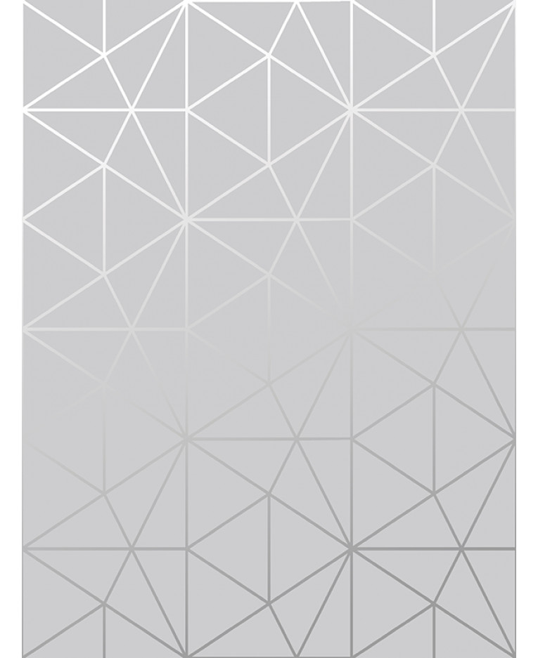 Metro Prism Geometric Triangle Wallpaper Grey And Silver