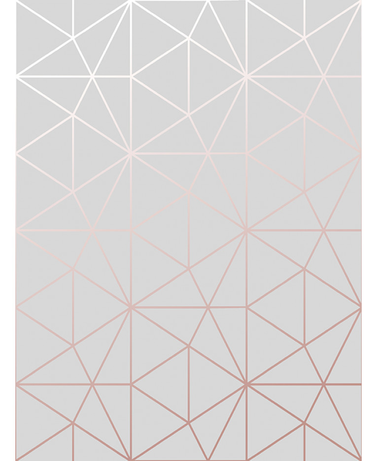 Metro Prism Geometric Triangle Wallpaper Grey And Rose
