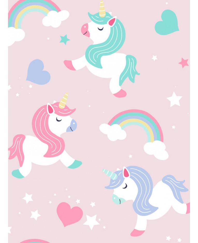 Unicorns Wallpaper Pink World