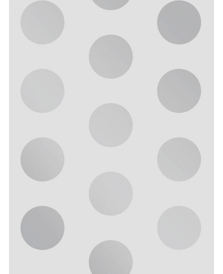 Favorito Carta da parati a pois grandi punti argento / grigio A617 CAO 4 TV11