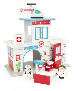 Leomark Wooden Hospital with Accessories