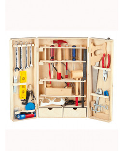 Leomark Wooden Tool Set - 50 pieces