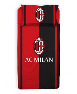 AC Milan Single Duvet Cover and Pillowcase Set