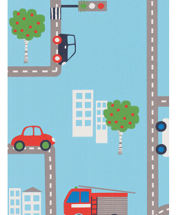 Transport Wallpaper - Blue 10m