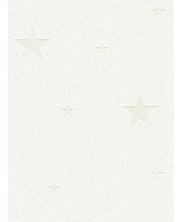 Glow in the Dark Stars Wallpaper White - AS Creation 32440-1