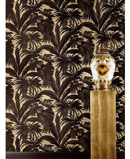 Versace Palm Leaves Wallpaper - Black and Gold - Giungla 10m x 70cm 96240-1