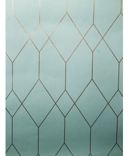 Geometric Diamond Wallpaper Teal / Copper Esprit 32792-2