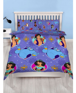 Disney Aladdin Sunset Double Duvet Cover and Pillowcase Set