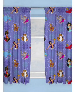 "Disney Aladdin Sunset Curtains 72"" Drop"