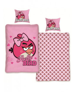 Angry Birds Pink Duvet Cover and Pillowcase Set - Pretty Bird