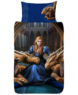 Anne Stokes Fierce Loyalty Dragon Single Duvet Cover Set
