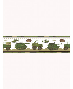 Price Right Home Army Camp Wallpaper Border - A128.AA